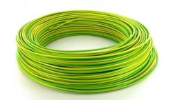 Câble cuivre isolé vert/jaune