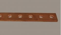 Barre cuivre perforée