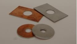 Rondelles et plaques bimétalliques